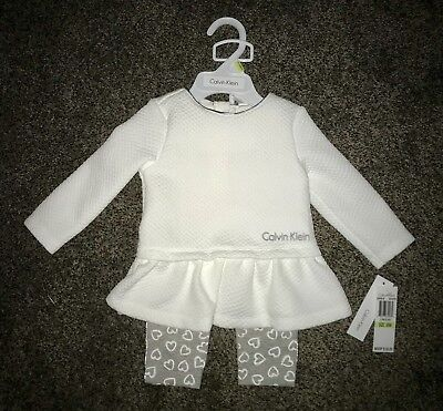 NWT CALVIN KLEIN newborn / infant baby girl 2-piece outfit size: 3/6 months, $50](50 Outfits)
