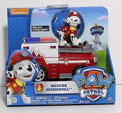 Paw Patrol Marshall's Ambulance, Vehicle & Figure (Works With Paw Patroller)