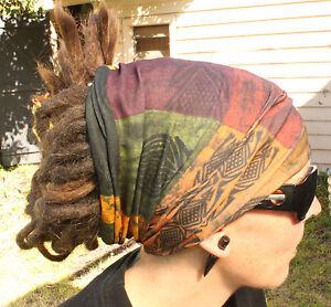 Earthy Dreadlock Headband/dread sock/wrap - Lightweight, soft, comfortable