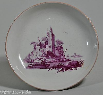 Johannes de Mol Oude LOOSDRECHT 1771-1784 Nederlandse porselein plaat Teller