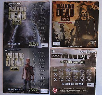The Walking Dead Instant Sv Lottery Tickets  4 Different