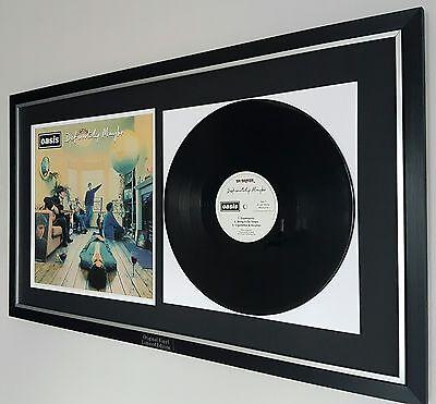 Oasis Definitely Maybe Framed Original Vinyl Album-Noel Gallagher Liam