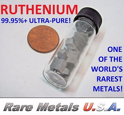 RUTHENIUM: 1 OZ OUNCE! PURE 99.95%+ | PLATINUM GROUP FRAGMENTS | RARE METALS USA