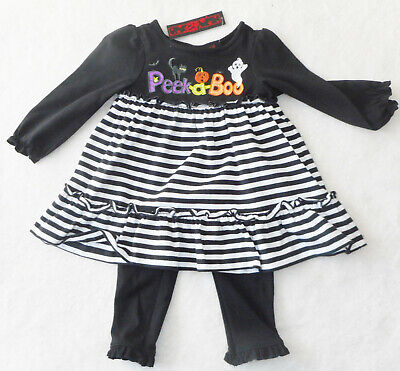 HALLOWEEN 💜 Baby Mädchen  Kleid + Leggings - Baby Halloween Kleid