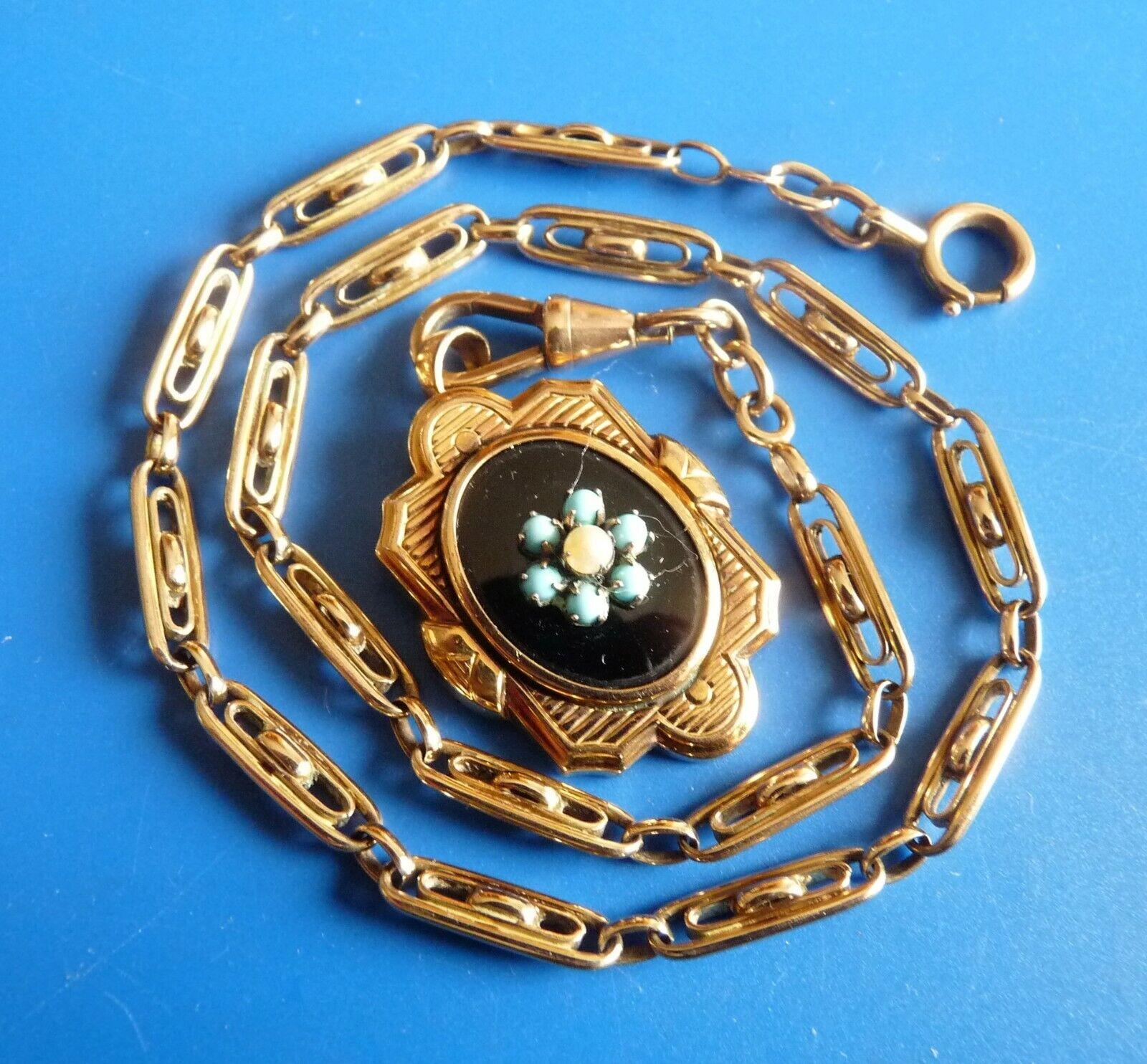 Antique chain of watch pocket bijoux anciens chaine de montre xix napoleon iii