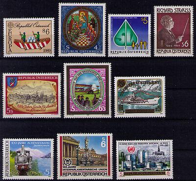 (080) div. Österreich ** Mi.-Nr. 1956-1962 und 1964-1966