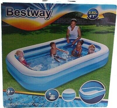 Bestway Schwimmbecken Swimming Pool 262x175x51cm Family Kinderpool