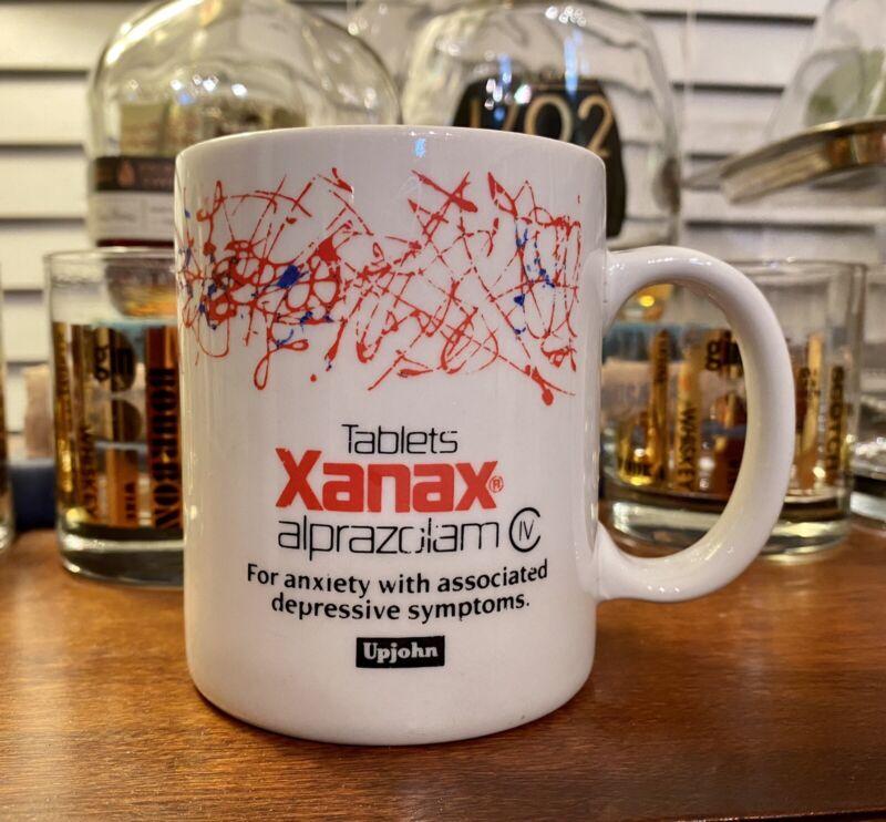 Xanax Pharma Drug Rep Doctor Coffee Mug Cup 1990s Very Rare
