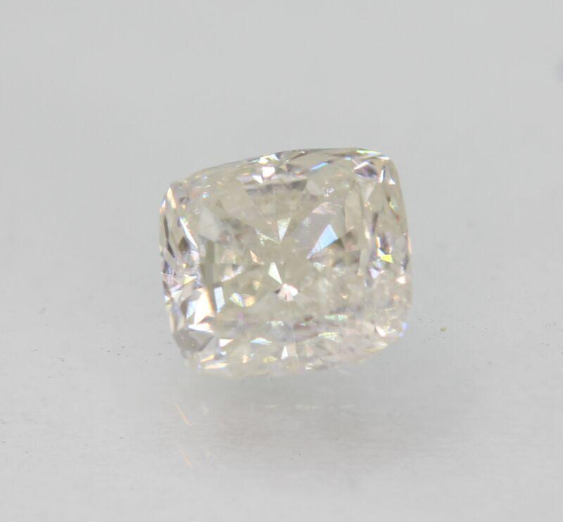 Certified 1.04 Carat F SI2 Cushion Enhanced Natural Loose Diamond 5.88x5.35mm