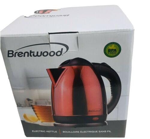 Brentwood 50oz Stainless Steel Red Electric Tea Kettle 1000W
