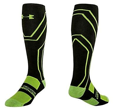 Under Armour Coldgear Infrared Mid Socks Large Over Calf Cushion Scent Control