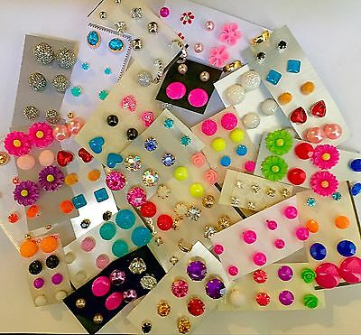 Wholesale Jewelry Lot - New Stud Earrings 100 Pairs! FREE SHIPPING! US Seller❤️