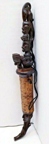 Rare Sumatra Batak Medicine Container With a Calendar, Indonesia Tribal Art