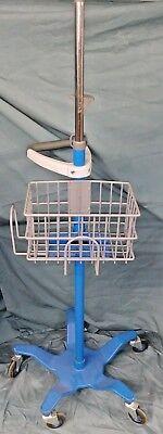 Ge Critikon Dinamap Pro Care Rolling Monitor Stand Swivel Handle Nurse Lab Md