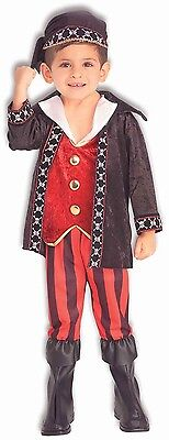 Boys Pirate Costume Deluxe Halloween Outfit Buccaneer Sailor Toddler Child Kids (Toddler Pirate Outfit)