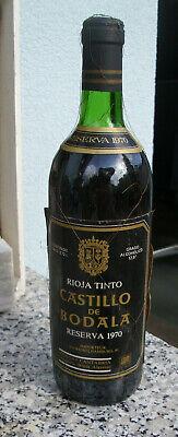 """Rarität 1970 Rioja """"Castillo de Bodala"""" Grand Reserva Rotwein"""