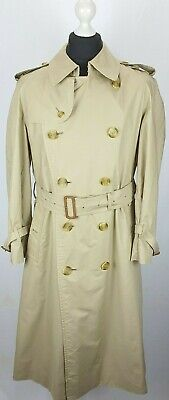 BURBERRY DOUBLE BREASTED MEN SIZE 42 TRENCH  RAINCOAT