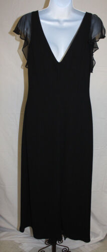 Jones New York Ladies Womens Black Formal Evening Cocktail Long Dress Size 12