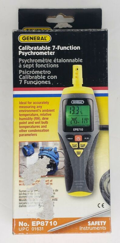 General Ep8710 Temperature Humidity Meter