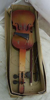alte Blech Geige Blechspielzeug