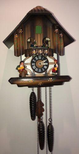 Vintage E. Schmeckenbecher Regula Hofbrauhaus Beer Cuckoo Musical Clock