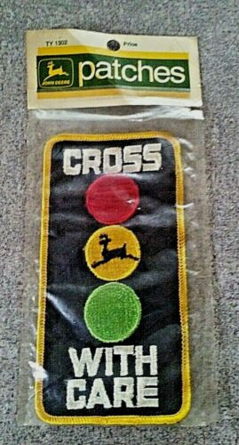 John Deere Cross With Care Snowmobile Patch Vintage 1972 NIP