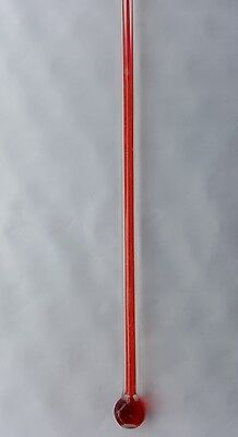 "Old Stock  Replacement  Thermometer. Tube 12""   x 3/16"" wide Glass Bulb Style"