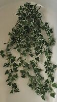 Artificial Greenery Large Trailing Ivy Variegated Ideal Hanging Baskets Garden -  - ebay.co.uk