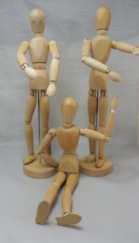 "3  IKEA Gestalta 21576 Wood Mannequin Artist Sketch Figure Model Poseable 13"""