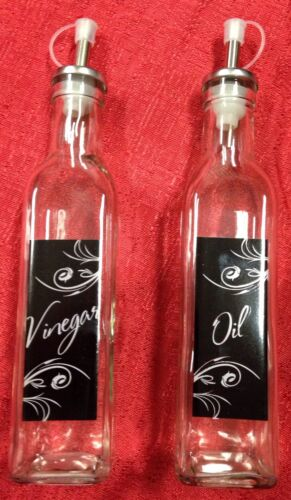 Set Of 2 Glass Oil & Vinegar ...