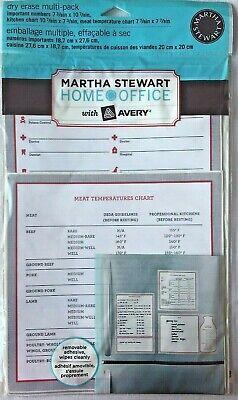 Martha Stewart Avery Dry Erase Kitchen Charts Multi-pack Decals
