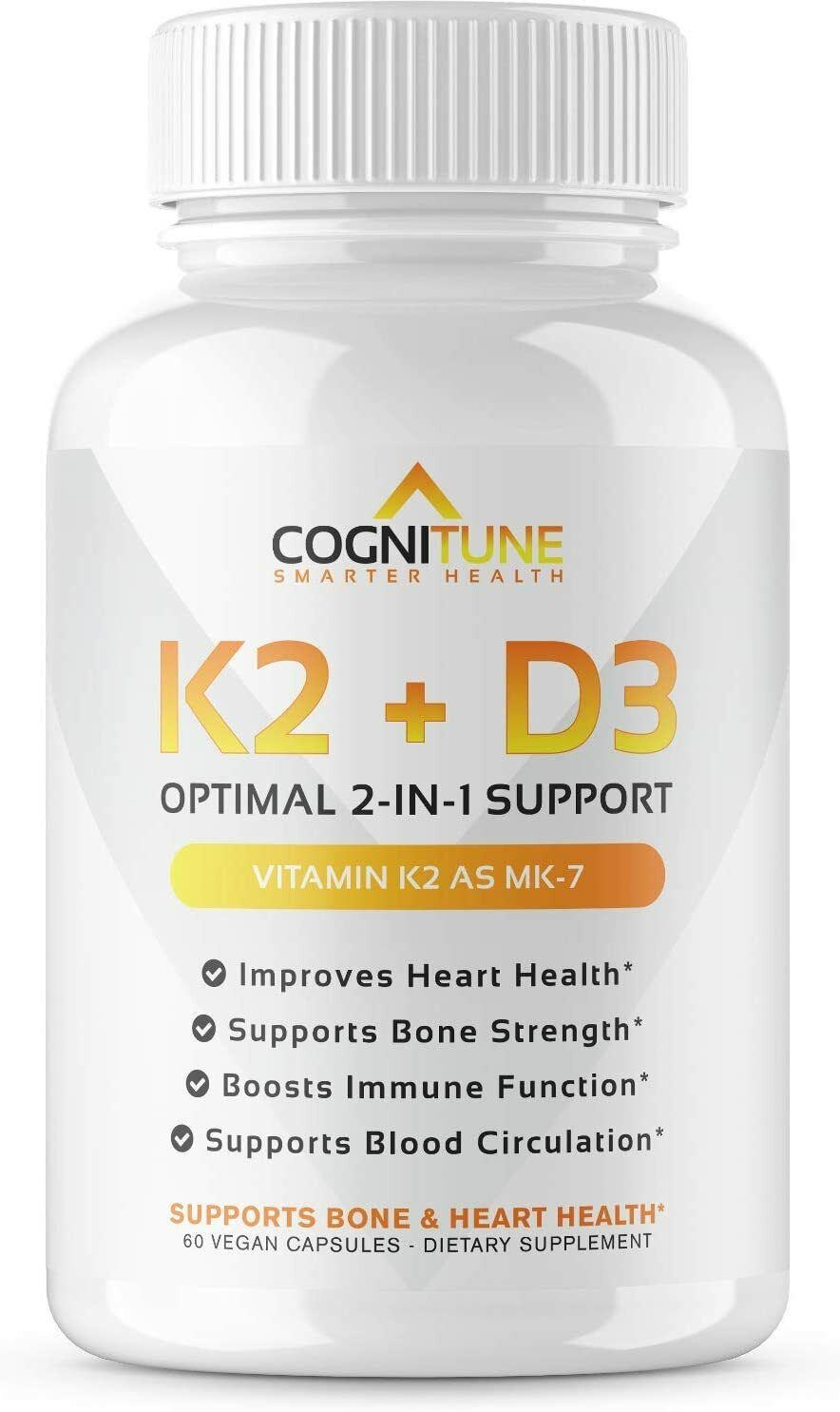Vitamin K2 D3 Supplement Strengthen your Heart Bone Blood Immune System Made USA
