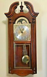 Howard Miller Pendulum Wall Clock ~ The Fenwick in Cherry Hardwood~Model 620-158