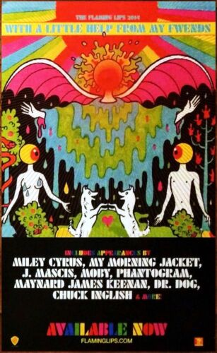 THE FLAMING LIPS With A Little Help From My Fwends Ltd Ed New RARE Tour Poster!