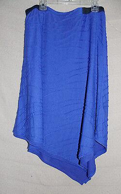 Women's Simply Vera Vera Wang Blue Windy Asymmetrical Skirt Small