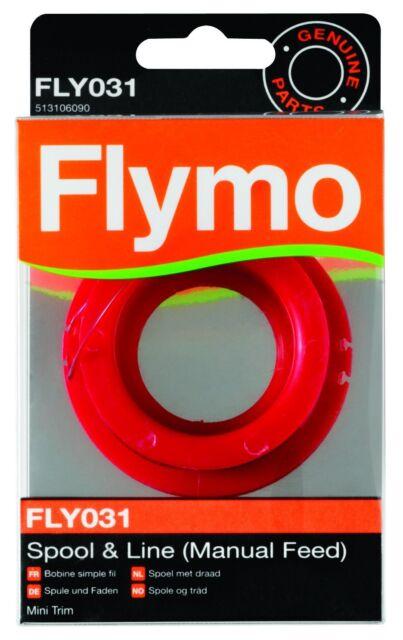 Genuine Flymo Single Line Manual Feed Spool and Line FLY031