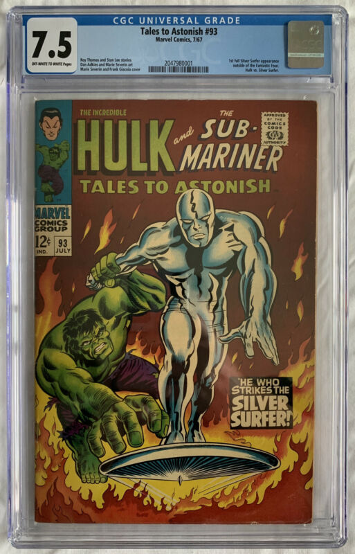 Tales to Astonish #93 CGC 7.5 OW/W 1st Silver Surfer app outside of the FF