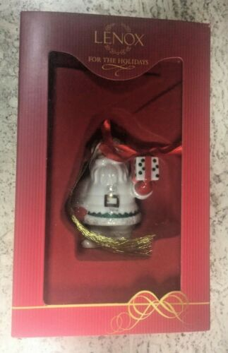 Lenox For the Holidays Ornament Santa Presenting Gift Figurine  MIB