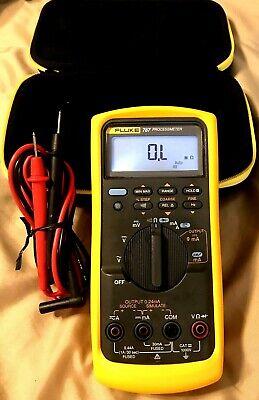 Fluke 787 Digital Process Meter New Fluke Leads Carry Case New Oem Yellow Rubber