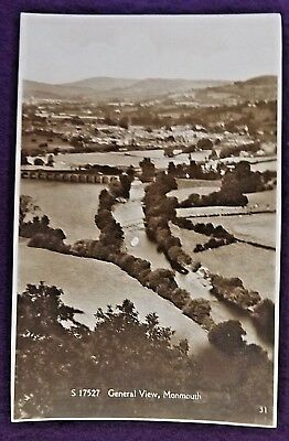 Early 1900S Pastoral View Of Monmouth England Real Photo Postcard