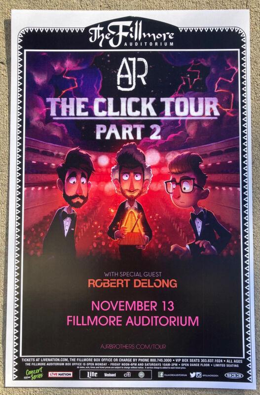 AJR 2018 The Click Tour Part 2 Fillmore - Denver, Colorado 11x17 Promo Poster