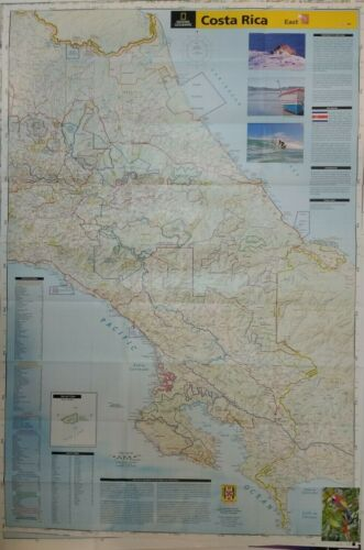 Costa Rica Laminated Wall Map (K)