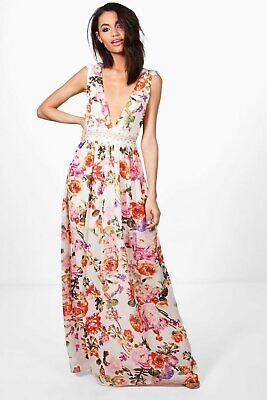 Marlowe Floral Lace Trim Maxi Dress~NWTS for sale  Shipping to Canada