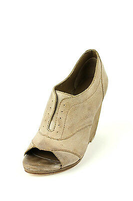 Joe's Jeans Cristy Open-Toe Pump Tan Nude $195 vintage classic Christy Leather  Open Toe Vintage Pumps