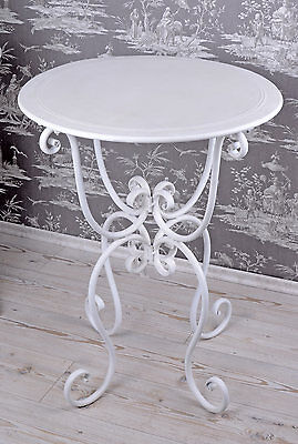 Gartentisch Jugendstil Tisch Weiss Metalltisch Landhausstil Eisentisch Garten