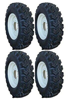4 New 7.50-16 Narrow Snow Tires New Holland Skid Steer Rims 12-16.5 Kit T
