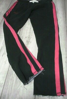 SUPERDRY JOGGERS SWEAT PANTS BOTTOMS SIZE SMALL GREY / PINK