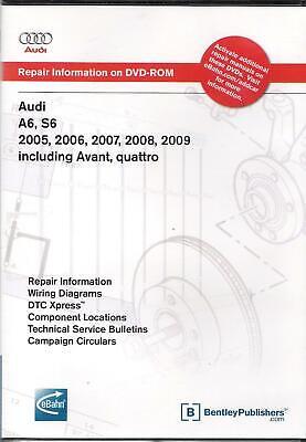 2005 - 2009 Audi A6, S6, Avant, Quattro, Factory Service Repair Manual DVD AC66