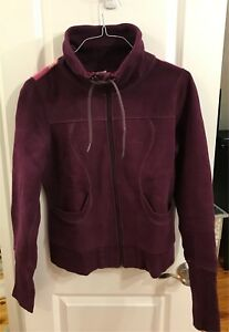 Lululemon Burgundy Zippered Sweater - Size 8