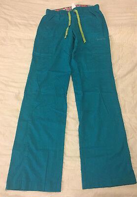 Womens Clean Turquoise S Small Tall Vera Bradley Scrub Uniform Pants Bottoms